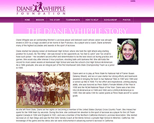 Diane Whipple Foundation Website Example
