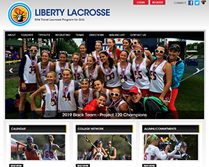 Liberty Lacrosse Website Example
