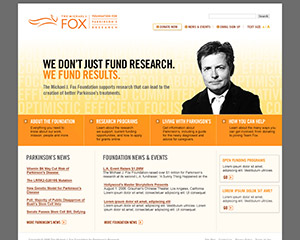 Michael J Fox Foundation Website Example